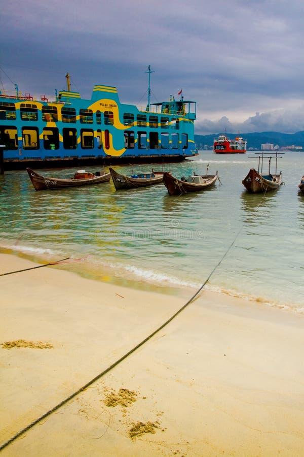 轮渡马来西亚槟榔岛 免版税库存图片