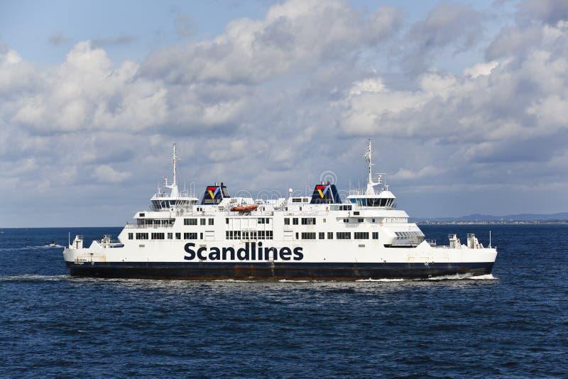 轮渡helsinborg scandlines瑞典 免版税库存照片