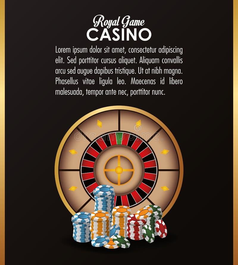 轮盘赌切削赌博娱乐场拉斯维加斯象 向量例证