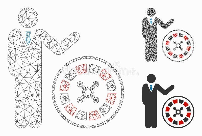 轮盘赌副主持人传染媒介滤网第2个模型和三角马赛克象 库存例证