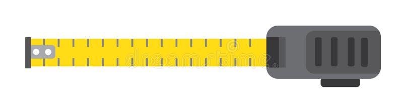 轮盘赌措施 黄色大厦工具 查出在白色 皇族释放例证