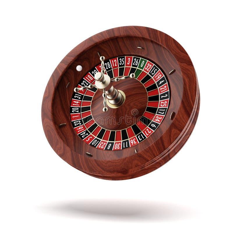 轮盘赌的赌轮。 皇族释放例证