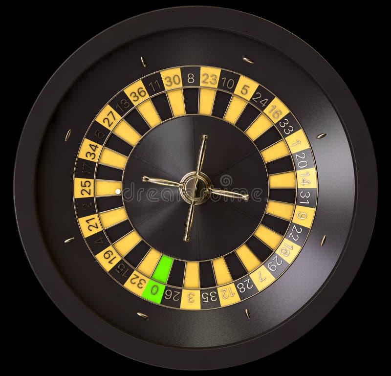 轮盘赌的赌轮黑色和黄色 向量例证