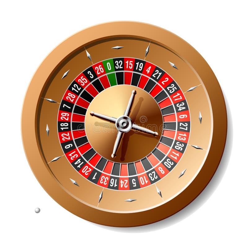 轮盘赌的赌轮 向量例证