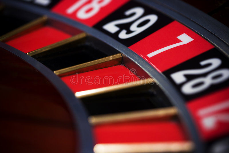 轮盘赌的赌轮 库存照片