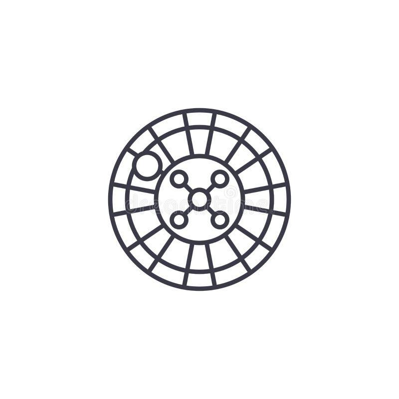 轮盘赌线性象概念 轮赌线传染媒介标志,标志,例证 皇族释放例证