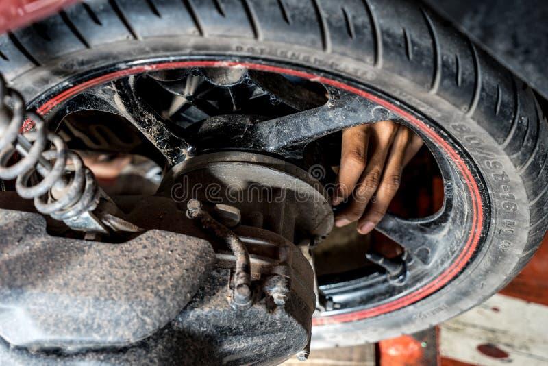 轮胎变动 免版税库存图片