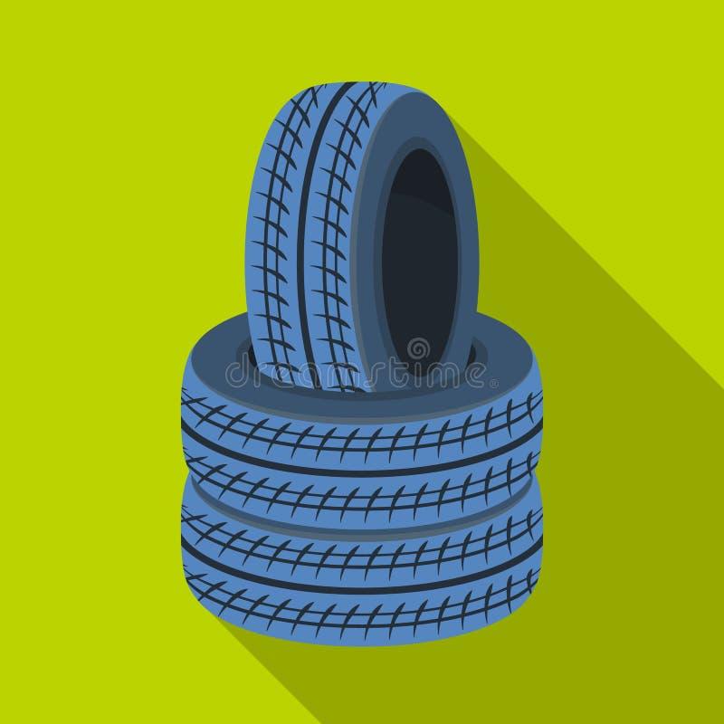 轮胎护拦  在平的样式传染媒介标志股票例证网的迷彩漆弹运动唯一象 向量例证
