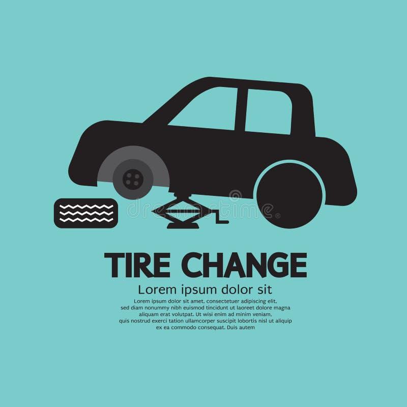 轮胎改变 向量例证