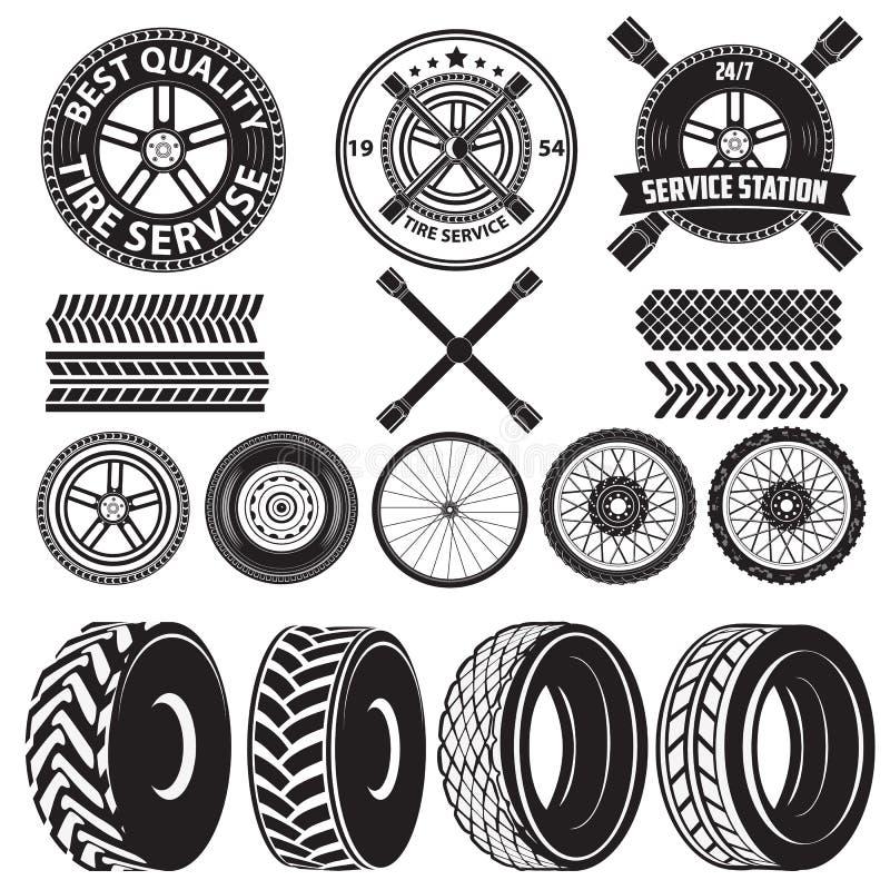 轮胎服务标签 皇族释放例证