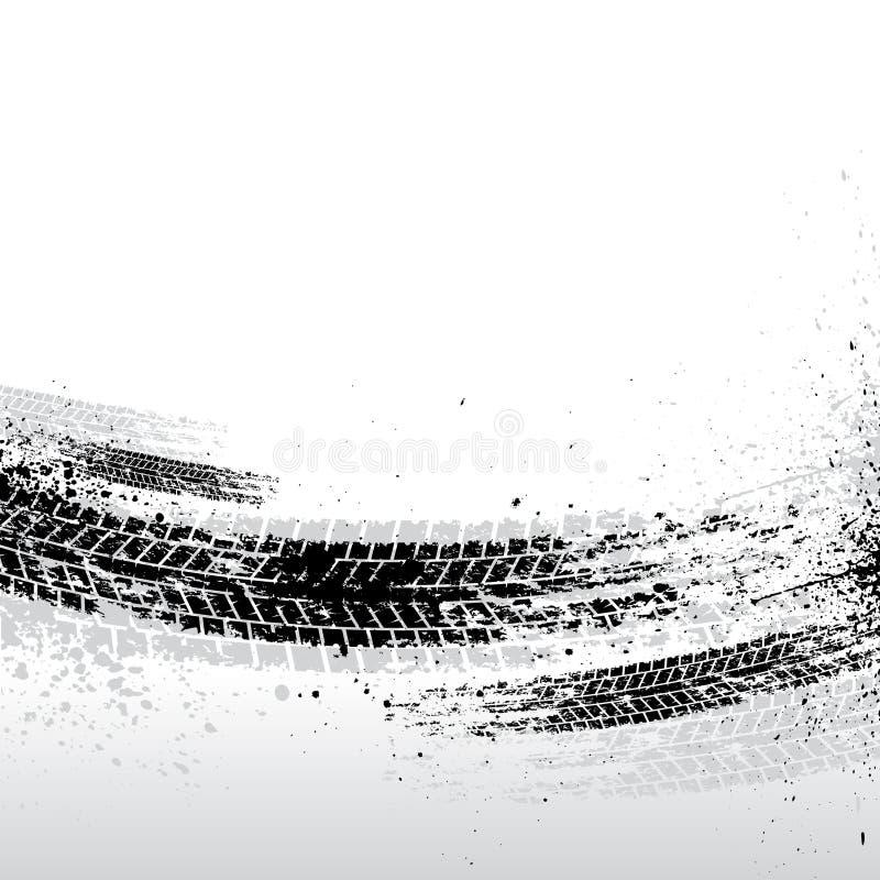 轮胎跟踪背景 库存例证