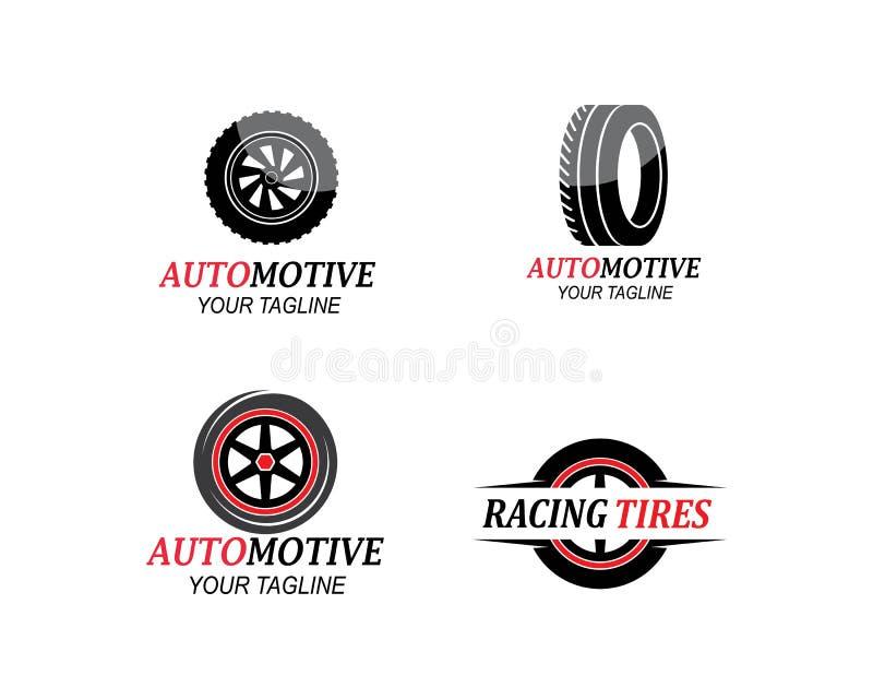 轮胎,汽车象商标vectortemplate轮子  向量例证