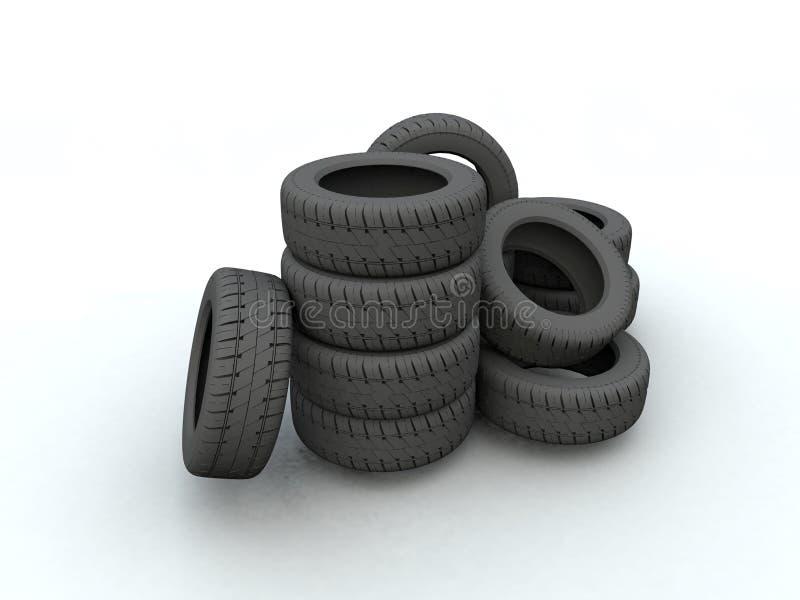 轮胎 向量例证