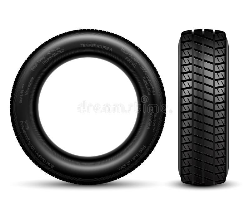 黑轮胎 库存例证