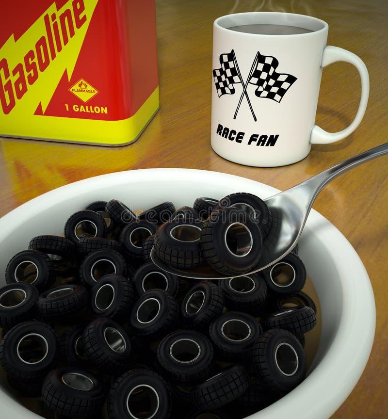 轮胎O的早餐 库存图片