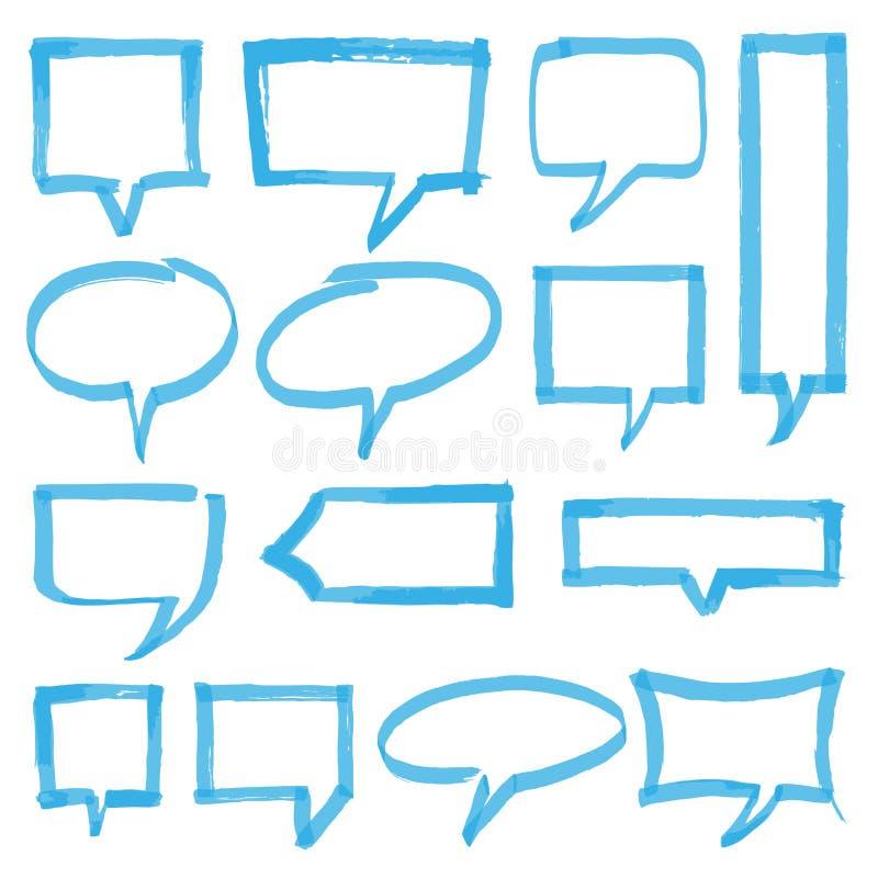 轮廓色_讲话泡影设计元素 向量例证