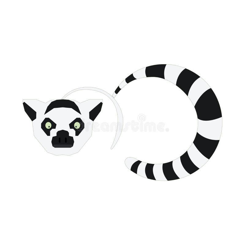 软件商标、应用、技术商店和体育的例证狐猴动物商标 库存图片