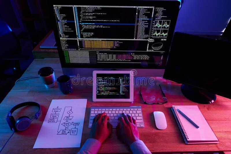 软件开发商在工作 图库摄影