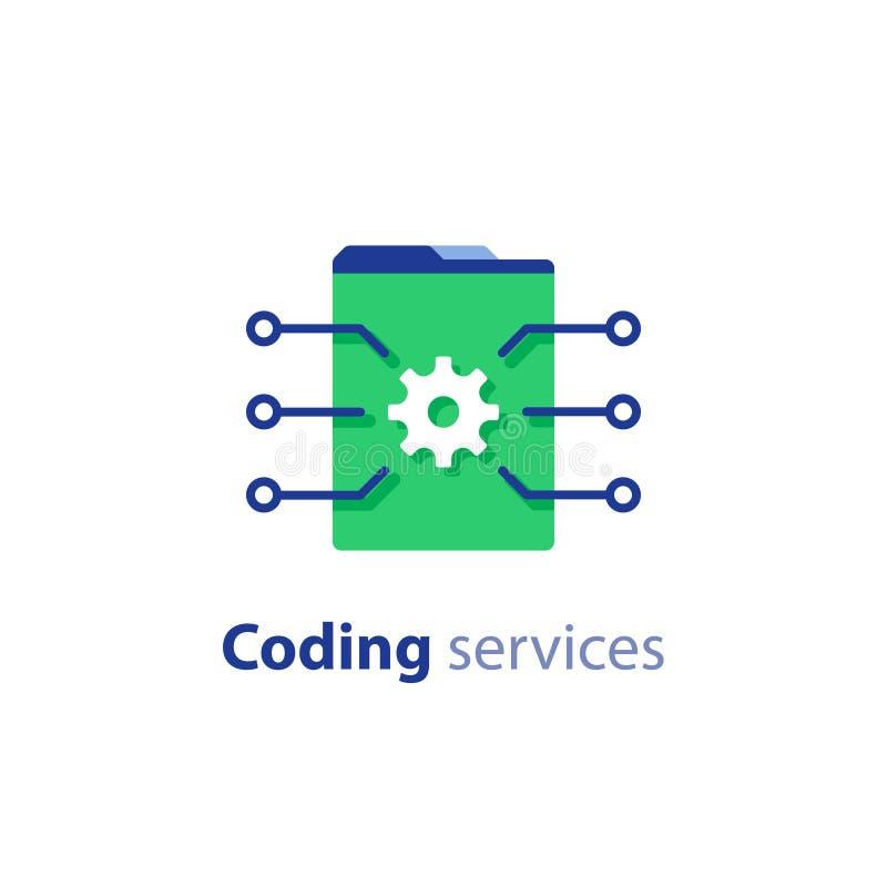 软件开发,互联网技术,编码服务,创新概念,网站设计,管理象 皇族释放例证