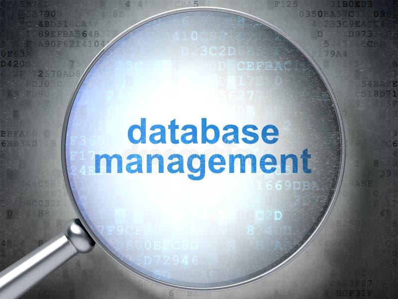 软件概念:与光学玻璃的数据管理 皇族释放例证
