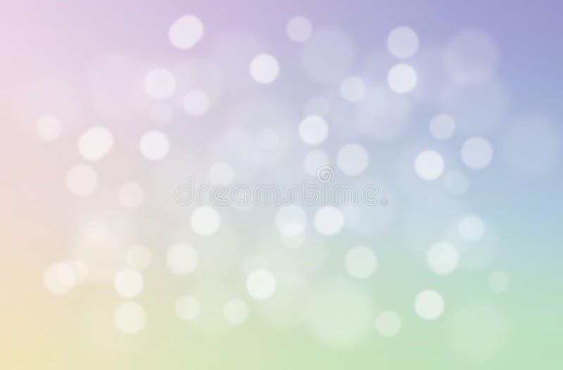 软和甜淡色抽象梯度背景 被弄脏的自然bokeh摘要墙纸 圣诞灯 库存图片