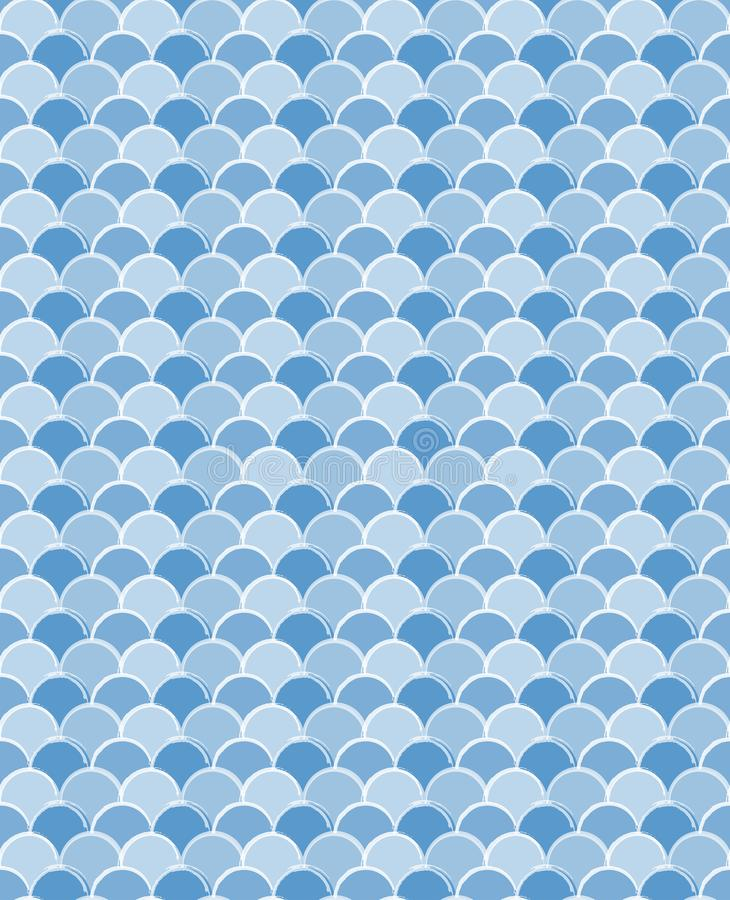 软和美好的蓝色波浪V形臂章传染媒介样式 库存例证