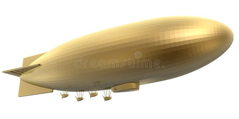 软式小型飞艇 向量例证