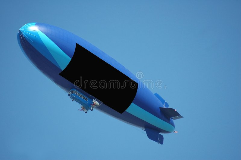 软式小型飞艇 免版税库存图片