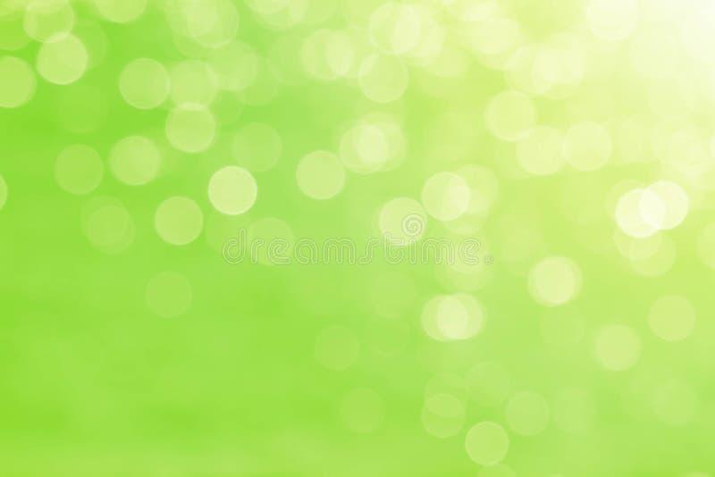 软性弄脏了甜绿色bokeh自然摘要背景 免版税库存照片