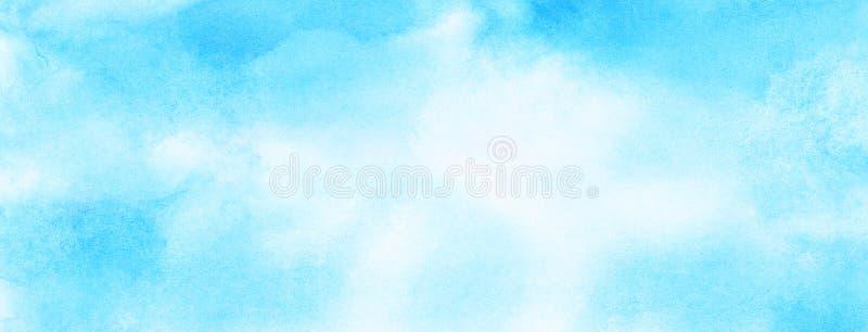 软性抹上了轻的天蓝色颜色水彩背景 水彩画绘了葡萄酒设计的,邀请加州纸织地不很细帆布 向量例证