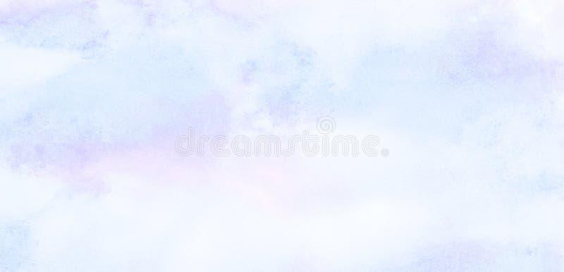 软性抹上了轻的天蓝色颜色水彩背景 水彩画绘了葡萄酒设计的,邀请加州纸织地不很细帆布 皇族释放例证