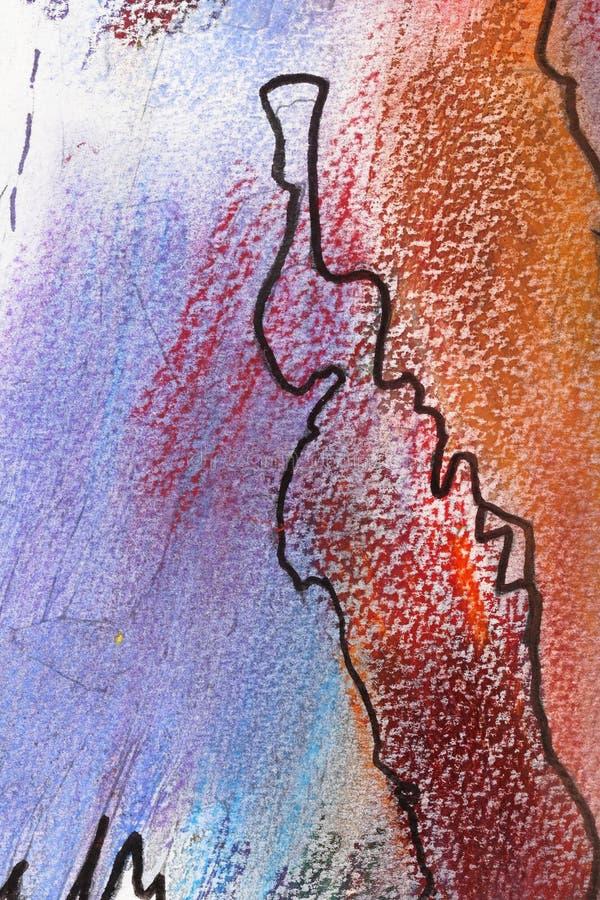 软柔和的淡色彩绘 免版税图库摄影