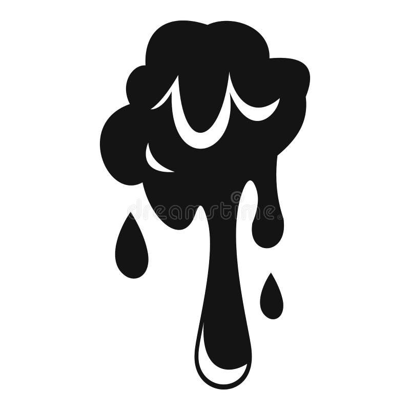水滴软泥象,简单的样式 库存例证