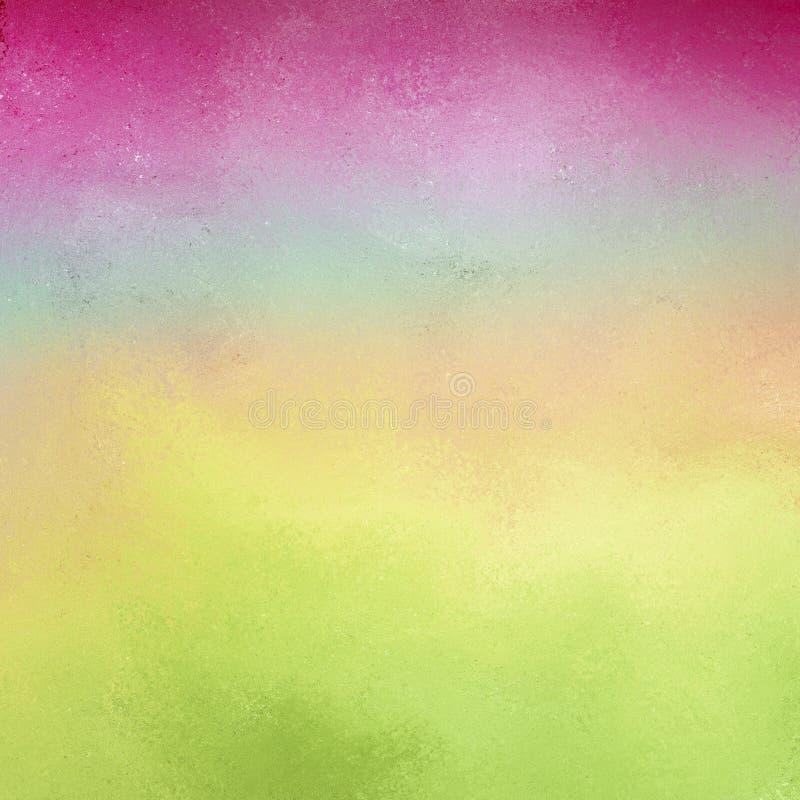 软的桃红色蓝绿色和黄色颜色和葡萄酒纹理背景  图库摄影