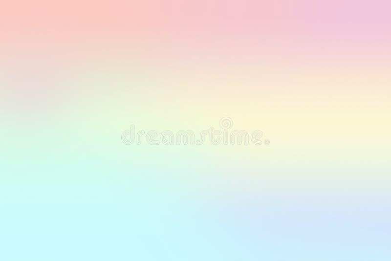 软的梯度淡色口气,在甜颜色的抽象背景 创造性的柔和的淡色彩和淡色简单派背景 库存例证