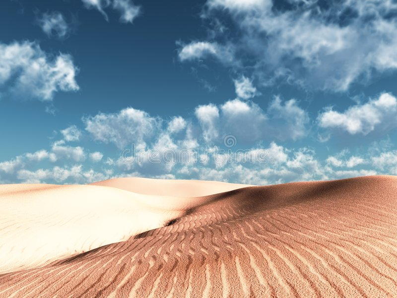 软的沙丘 皇族释放例证