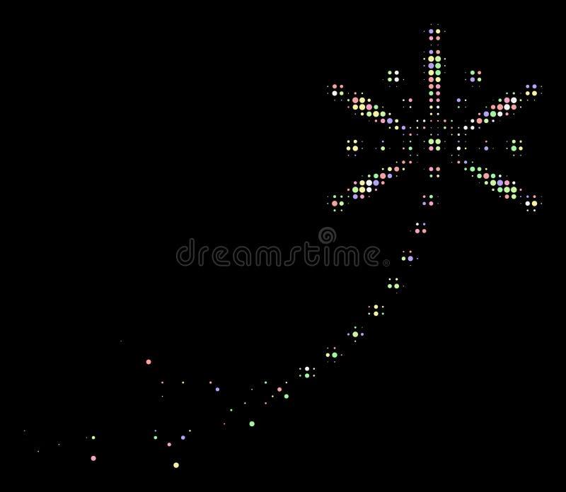 软的溶化的Pixelated半音致敬烟花踪影象 皇族释放例证