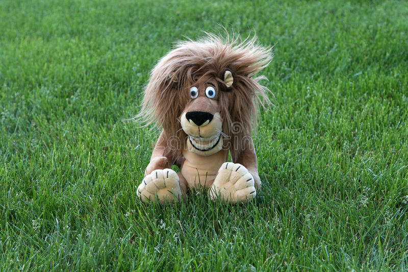 软的玩具狮子 库存照片