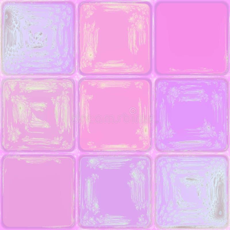 软的粉红彩笔摘要求水晶瓦片背景图象的立方 皇族释放例证