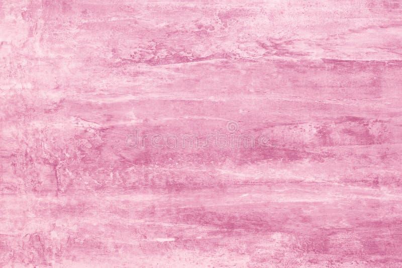 软的粉色大模型 摘要上升了与油漆污点的背景 在帆布,背景的玫瑰色污点 紫色例证 ??o 库存照片