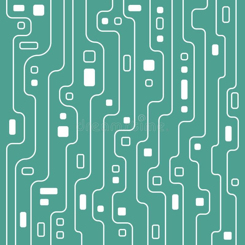 软的蓝色电路线艺术例证背景 库存例证