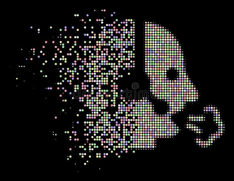 软的被驱散的小点半音操作员讲话象 库存例证