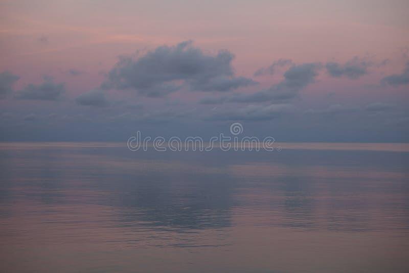软的颜色和热带盐水湖 图库摄影