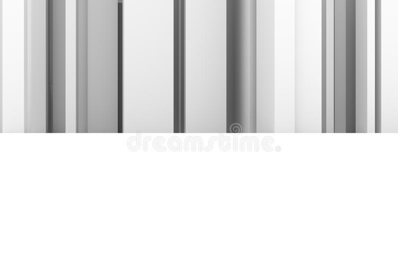 软绵绵地白色抽象现代柱子的样式&灰色背景 例证、黑色、黑白照片&设计 库存例证