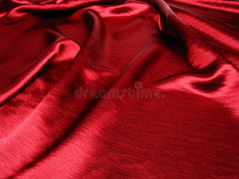 软背景红色的缎 免版税库存照片