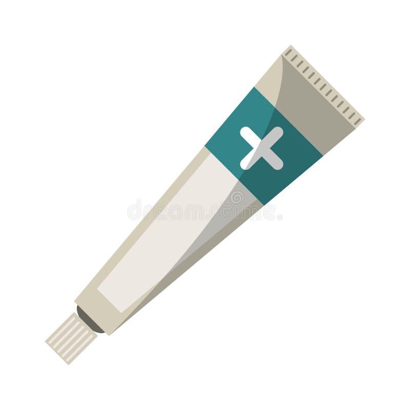 软膏奶油色管医学 向量例证