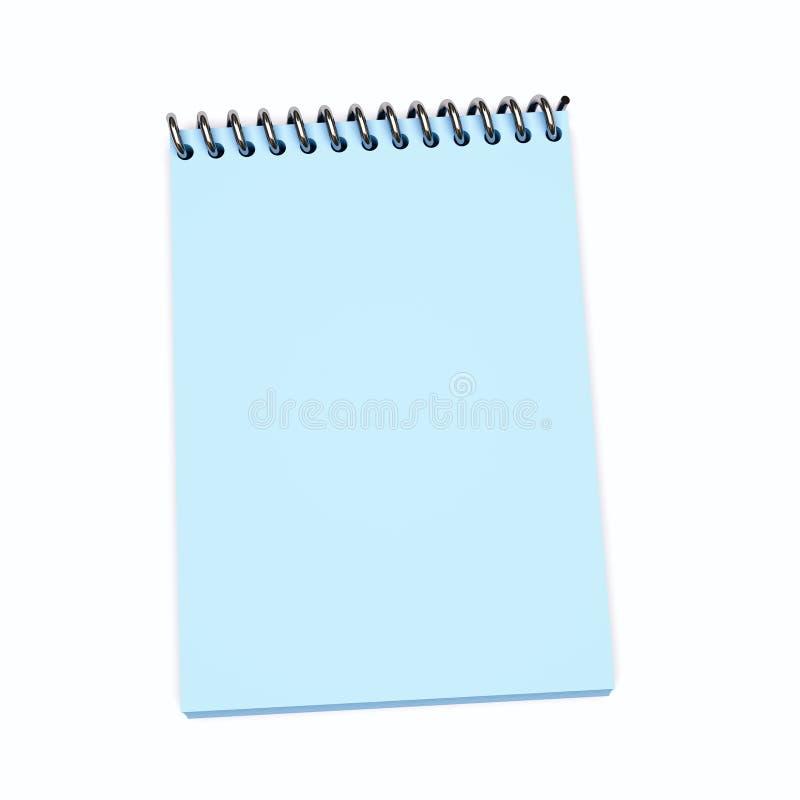 软蓝色的笔记本 皇族释放例证