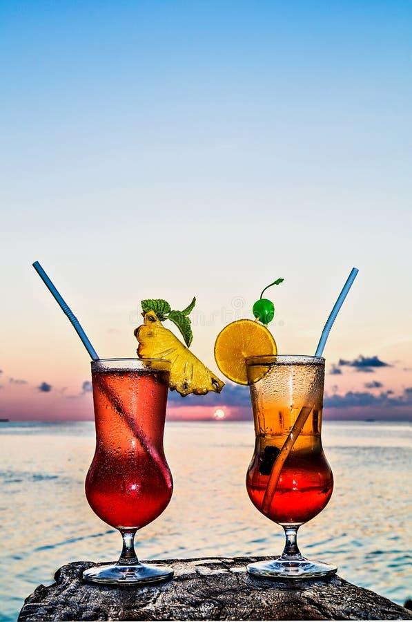 软饮料的杯 免版税库存图片