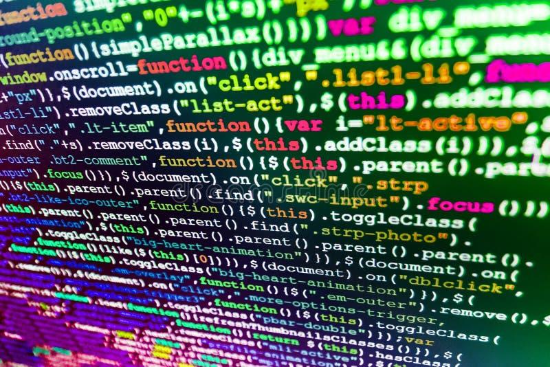 软件开发商工作区屏幕 免版税图库摄影