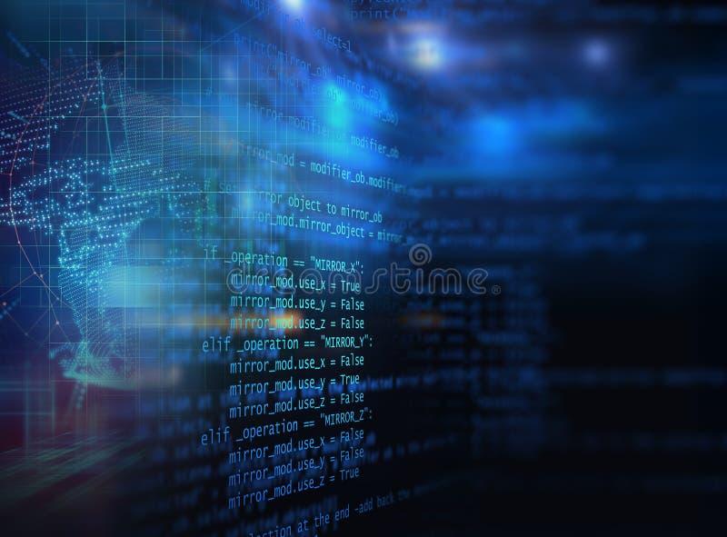 软件开发商编程的代码抽象技术背景  皇族释放例证